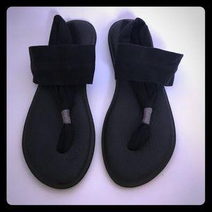 Sanuk Women's Yoga Sling 2 Sandals Black Size 9